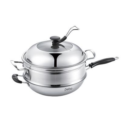 德鉑 貝爾托炒鍋不銹鋼多用炒鍋蒸鍋 煎鍋多用鍋DEP-257定制