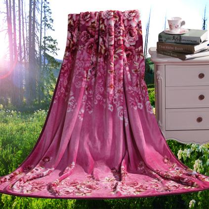 水星家纺 罗马假日毛毯-欧尚生活立体雕花绒毯春秋盖毯子床上用品定制108434