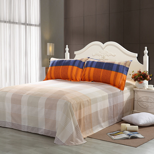 水星家紡 全棉磨毛活性印花四件套1.8m床上用品定制