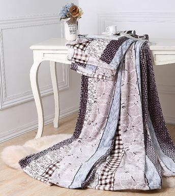 水星家紡溫暖舒適柔軟蓋毯午睡旅游印花珊瑚絨毯定制