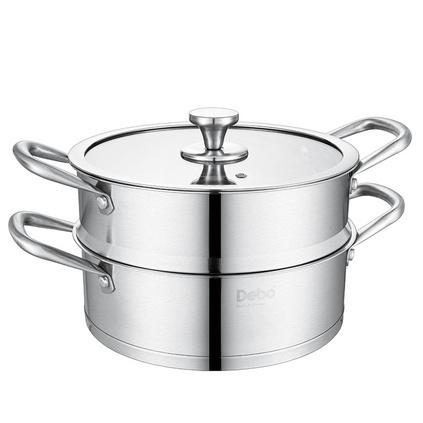Debo德鉑 海恩堡(蒸鍋)蒸鍋湯鍋雙層不銹鋼復合底蒸鍋24cmDEP-375定制