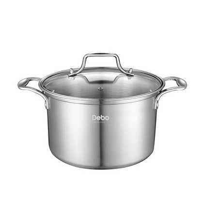 Debo德鉑 奧伯恩堡(湯鍋)定制 湯鍋優質不銹鋼多用鍋三層加厚復合底24cm DEP-286
