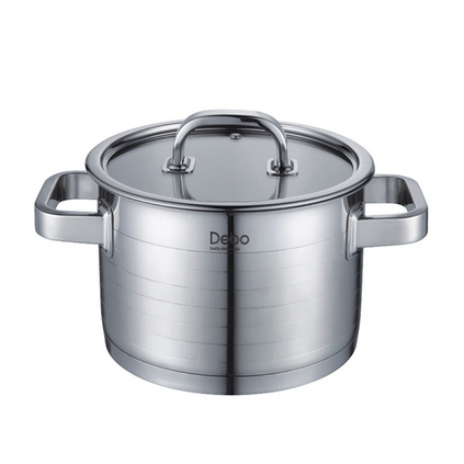 Debo德鉑 斯塔特(湯鍋)定制 304不銹鋼弧形邊緣三層復合底20cmDEP-232