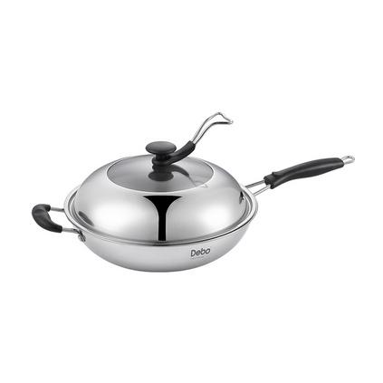 Debo德鉑貝爾托-A 炒鍋定制 無涂層醫用不銹鋼帶蒸片多用炒鍋DEP-31A