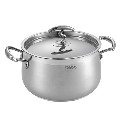 Debo德鉑 卡塞爾(湯鍋)定制 深湯鍋電磁爐能用德國品質304醫用不銹鋼湯鍋DEP-56