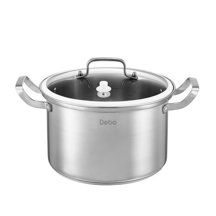 Debo德鉑 諾伊堡(湯鍋)定制  304不銹鋼無涂層湯鍋火鍋電磁爐通用24cmDEP-178