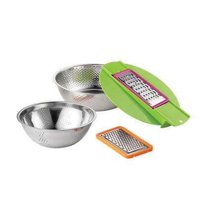 Debo德鉑 卡普爾(廚房用具)洗米刨絲過濾洗菜22cm、24cm多用實用DEP-205定制