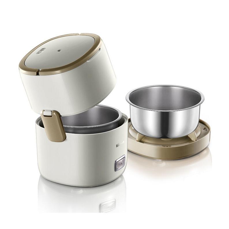 Bear 小熊 電熱飯盒定制 電熱飯盒雙層加熱蒸煮插電保溫熱飯器迷你電飯煲 DFH-A15D1