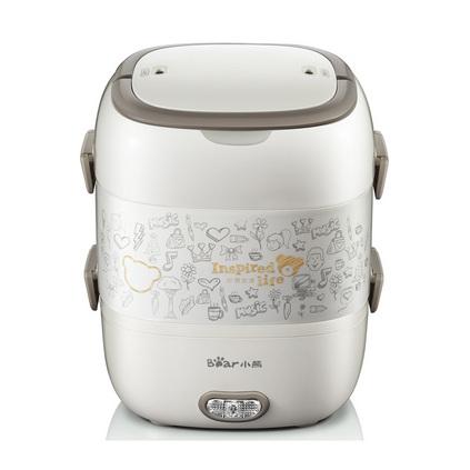 bear 小熊 電熱飯盒定制 電熱飯盒 2L三層不銹鋼內膽抽真空保鮮電飯盒 DFH-S