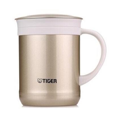 TIGER 虎牌 CWM-A035 0.35L不锈?#20013;?#38386;办公保温杯泡茶杯茶滤网杯定制