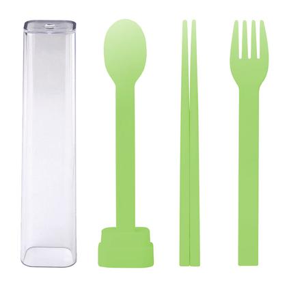 emoi 基本生活 環保旅行餐具三件套定制 便攜式環保餐具套裝 叉勺子筷子三件套 旅行盒 H0203