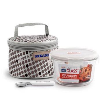 乐扣乐扣 耐热玻璃保鲜密封盒提袋组合定制 LLG-904FU