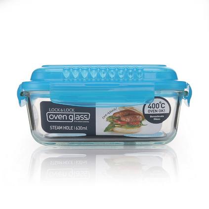 樂扣樂扣 高蓋氣閥耐熱玻璃保鮮盒(630ml)LLG 428VGFU定制