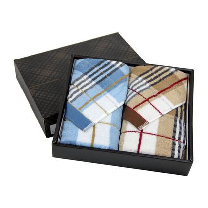 洁丽雅 纯棉布拉格毛巾礼盒商务澳门美高梅娱乐游戏 2条装
