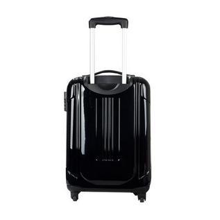 瑞士軍刀威戈硬殼萬向四輪拉桿箱旅行行李箱密碼鎖黑色(20寸)定制