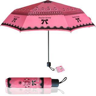 Hello Kitty 防紫外線碰擊布三折晴雨傘防紫外線雨傘定制