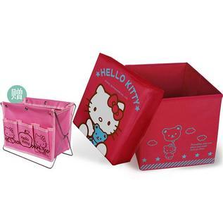 Hello Kitty 多功能折叠收纳凳收纳箱收纳盒定制