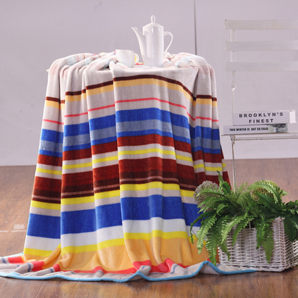 MERCURY 水星家紡 彩虹之約羅馬假日毯冬季午睡毯子雙人毯定制 10843