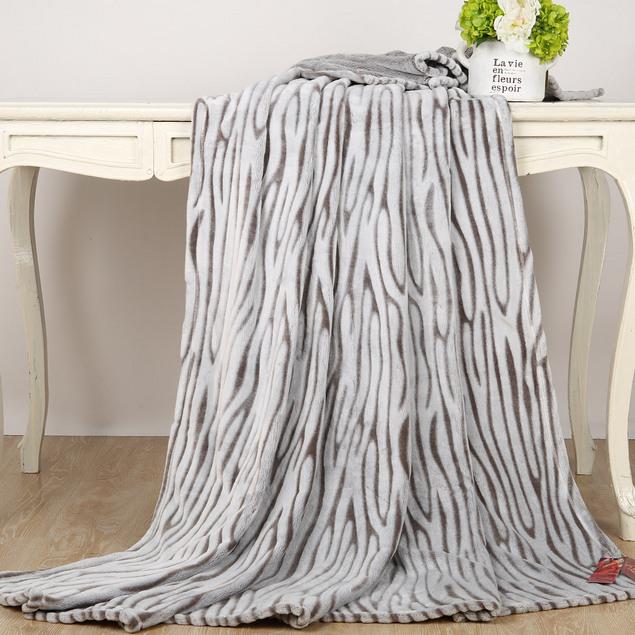 MERCURY 水星家纺 保暖简约时尚精品玉貂绒盖毯定制 105754