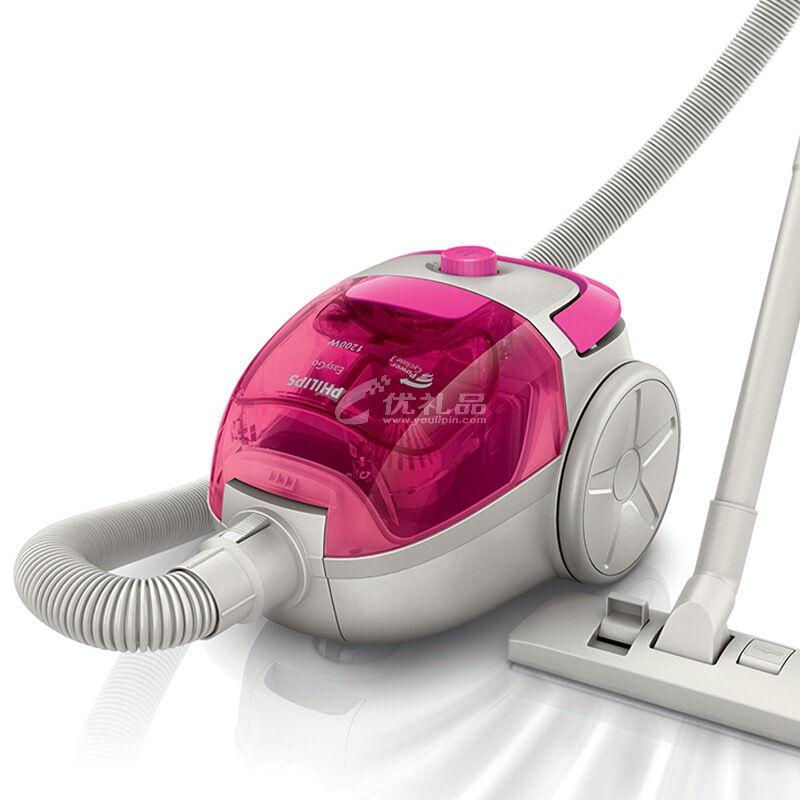 飞利浦 PHILIPS 静音吸尘器 手持式家用吸尘机 迷你无尘袋大功率 FC8086定制