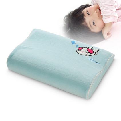 AiSleep/睡眠博士儿童卡通护颈枕头 学生保健记忆枕定制 天蓝色