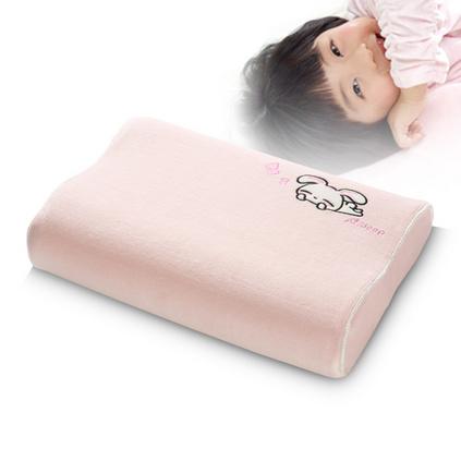 AiSleep/睡眠博士儿童卡通护颈枕头 学生保健记忆枕定制 粉色