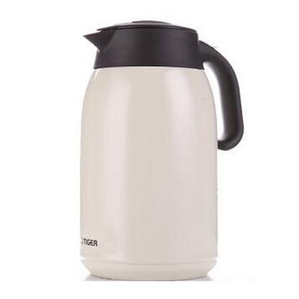TIGER 虎牌 1.6L双层不锈钢真空保温保冷瓶定制清水热水瓶 不锈钢暖壶保温瓶开水瓶家用保暖壶 咖啡壶 PWM-A16C