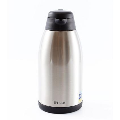 TIGER 虎牌 2L雙層不銹鋼真空保溫保冷瓶 咖啡壺定制 便攜式304不銹鋼熱水瓶保溫壺茶壺2L女士男士 PWL-B20C-XC