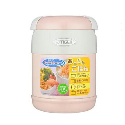 TIGER 虎牌 不銹鋼保溫飯盒定制 便當盒保溫飯盒日本原裝進口含便攜袋學生飯盒  便當盒 LWR-A072 日本原裝進口