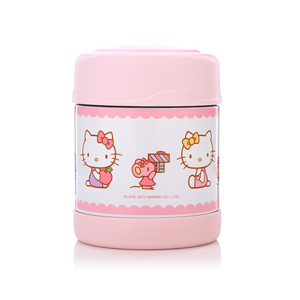 THERMOS 膳魔師 Hello kitty兒童保溫燜燒罐定制 兒童保溫保冷食物罐Hello kitty  F3001KT003