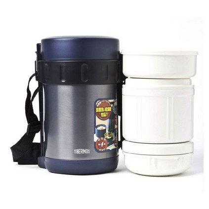 THERMOS 膳魔師 不銹鋼便當保溫桶定制 真空不銹鋼保溫飯盒桶便當盒多層大容量 JBA-2001 1600ml