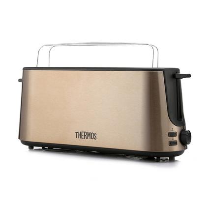 THERMOS 膳魔師 多士爐定制 自動面包片烤爐 面包烘烤器 EHA-5304E-MG