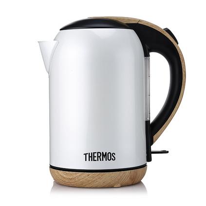THERMOS 膳魔师 电水壶定制 电热水壶 食品级304不锈钢1.7L大容量 自动断电  EHA-1313A-W