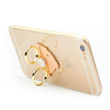 i-mu 幻响 萌小吉创意指环扣金属小鸡懒人通用手机支架定制