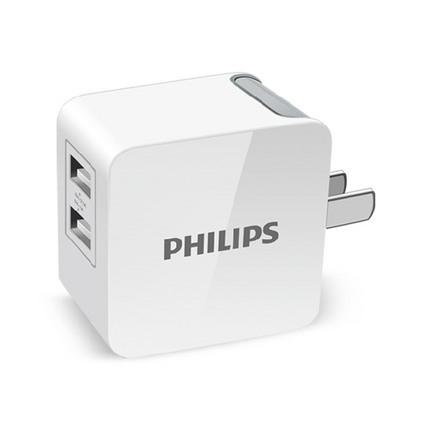 PHILIPS 飞利浦 手机充电器 快充版 折叠式通用USB适配器  DLP3018定制
