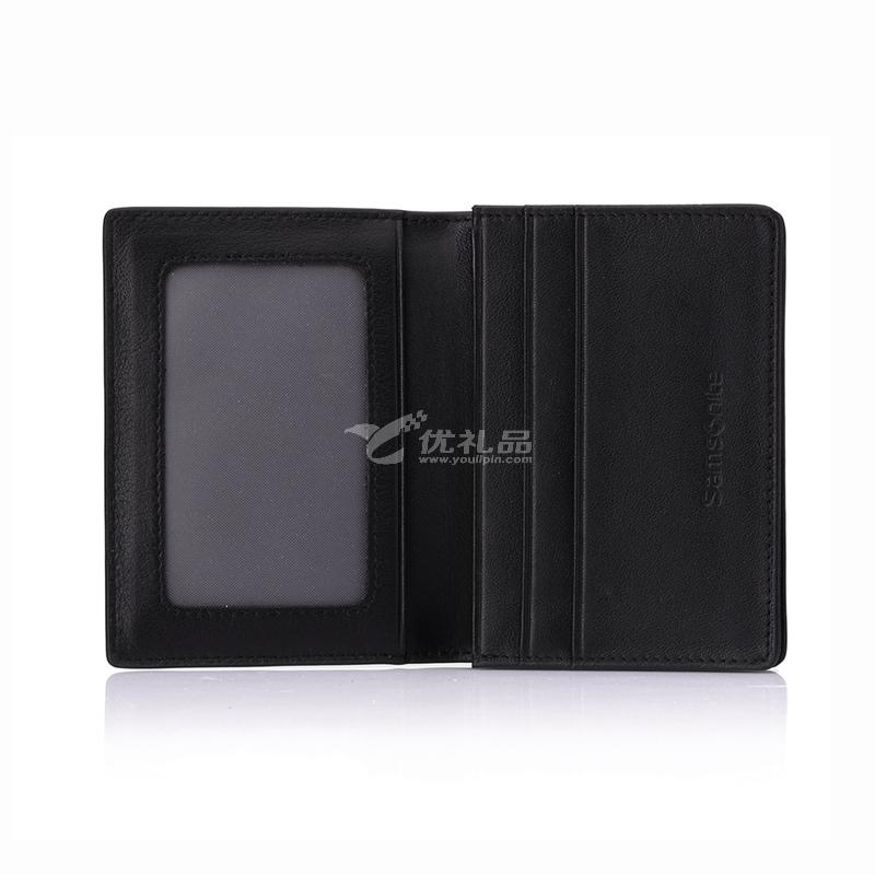 Samsonite 新秀麗 NOEL系列經典時尚男款卡包名片夾定制 SN-709E 黑色