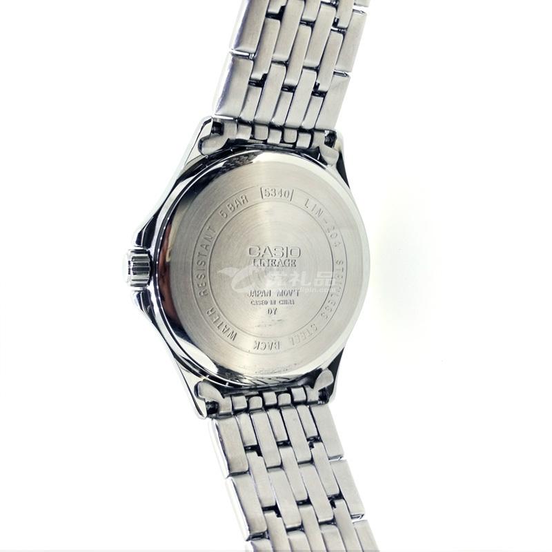 CASIO 卡西欧 简约品质时尚防水钢带男表定制 LIN-204D-7AVPF