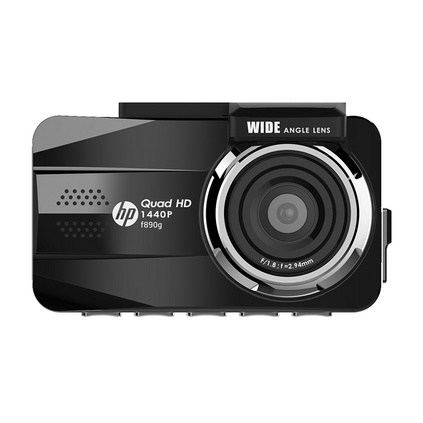 HP 惠普  F890G 前后雙錄超清夜視廣角行車記錄儀 (單鏡頭)定制