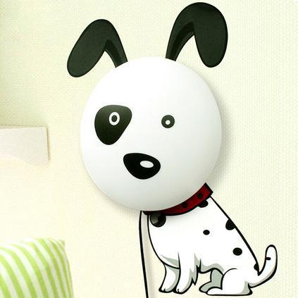 生活演異 兒童創意趣味3D氛圍燈斑點狗寶寶臥室床頭燈定制