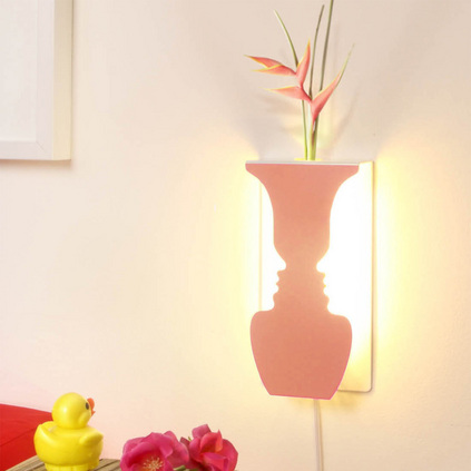 生活演异 花香微语led灯花瓶灯创意个性装饰灯壁灯过道灯卧室摆件定制