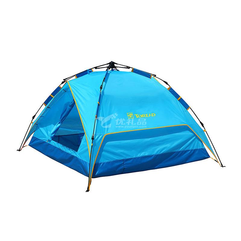 TOREAD 探路者 TEDC90663戶外露營3人-4人家庭野營裝雙層全自動帳篷定制