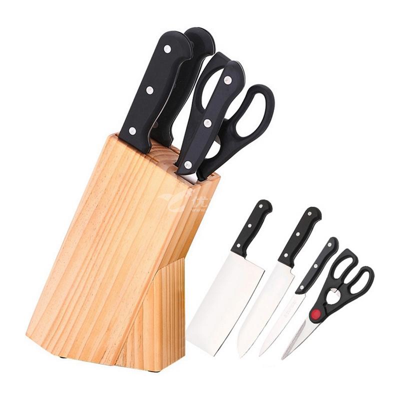 張小泉廚房套刀刀具菜刀組合套裝QD009不銹鋼家用菜刀五件套定制