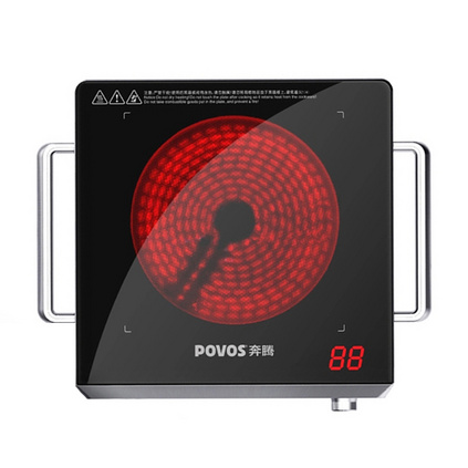 POVOS 奔腾 HLN98德国进口面板双把手电磁炉电陶炉定制