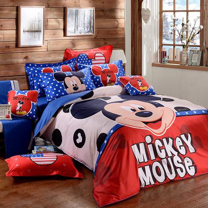 Disney/迪士尼儿童纯棉卡通四件套 家纺床上用品定制 DSN15-006