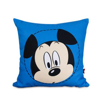 Disney 迪士尼 米奇大頭系列床頭靠背帆布抱枕辦公室腰枕汽車靠墊定制