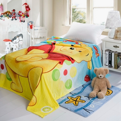 Disney 迪士尼 兒童毯法蘭絨午睡毯子空調蓋毯定制