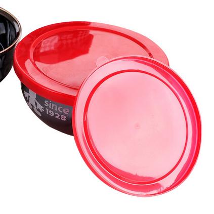Disney 迪士尼 米奇乌晶搪瓷5件密封碗保鲜盒定制 DSM-3055