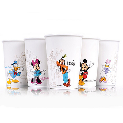 Disney 迪士尼 米奇家族創意可愛卡通杯五入陶瓷水杯組定制 DSM-2421