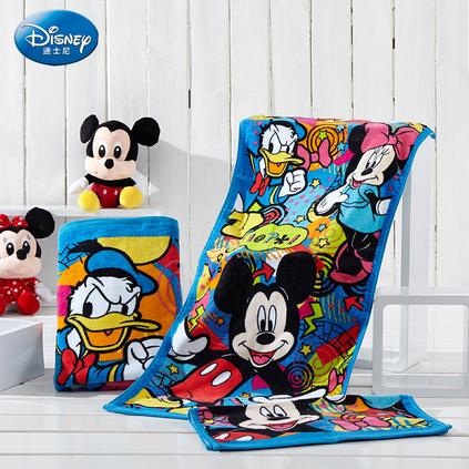 Disney 迪士尼 米奇活力四射卡通純棉1浴巾1面巾1方巾三件套禮盒定制
