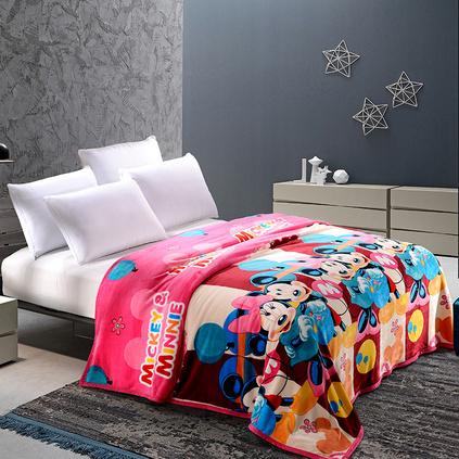 Disney 迪士尼DSN16-TZ051 米妮法莱绒欢乐毯空调毯午休毯定制